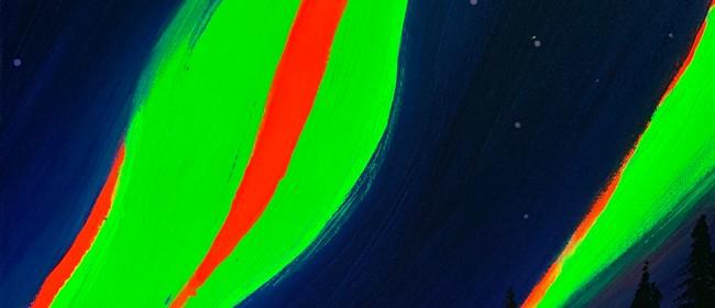 Glow In The Dark Paint Night - Northern Lights - Paintvine