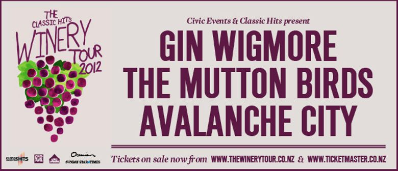 Classic Hits Winery Tour - Gin, Mutton Birds, Avalanche City