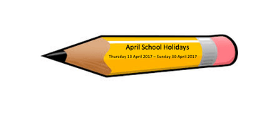 April School Holidays 2017