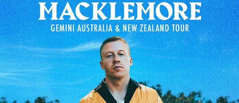 Macklemore is playing solo in New Zealand next year