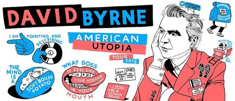 David Byrne brings his 'American Utopia' tour to Kiwi soil this November