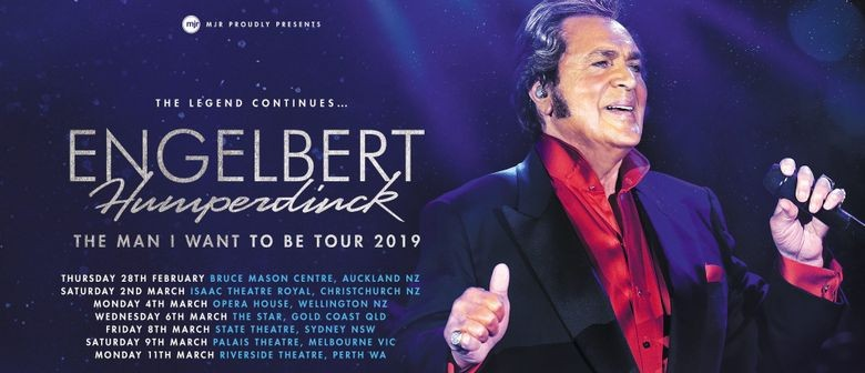 Engelbert Humperdinck serenades New Zealand in March 2019