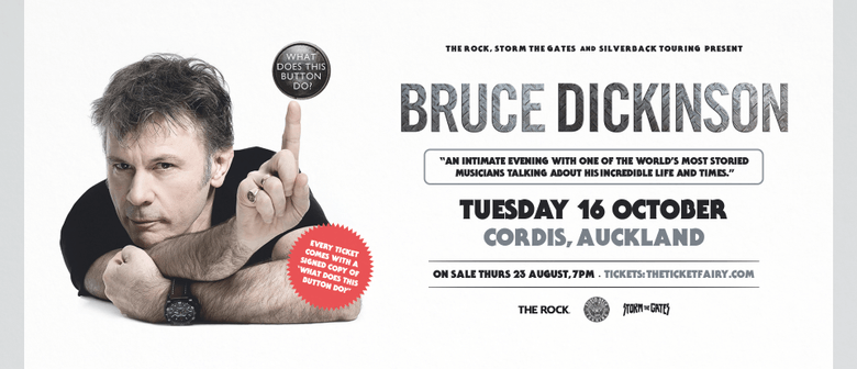 Bruce Dickinson performs a one-man show in NZ next month