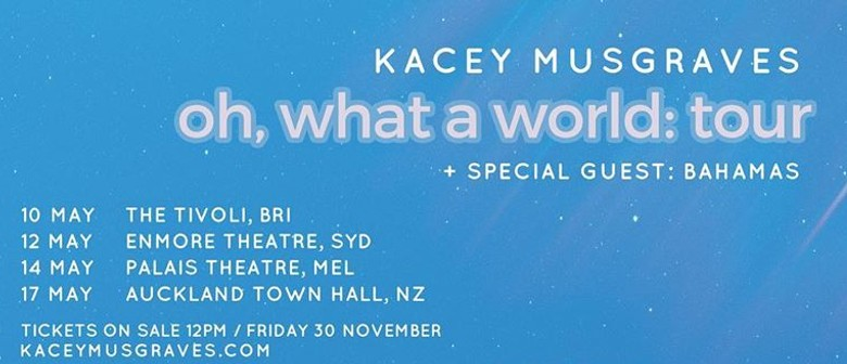 Kacey Musgraves' 'Oh, What A World: Tour' to hit New Zealand in May 2019