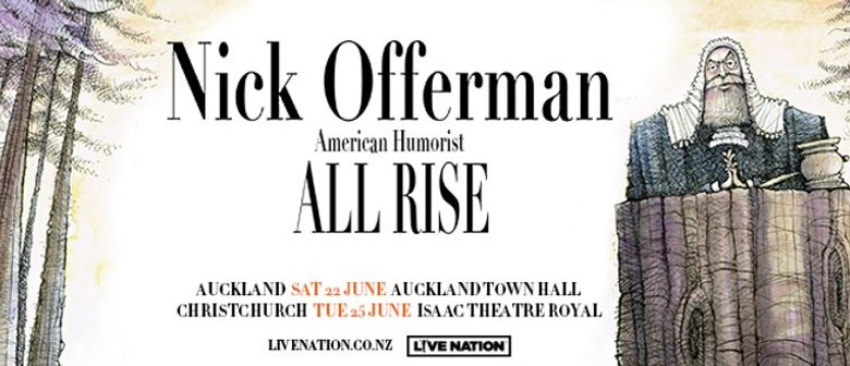 Nick Offerman flies down to New Zealand with his 'All Rise' tour this June