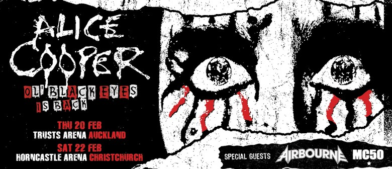 Alice Cooper announces two NZ shows in Feb 2020 with Airborne & MC50