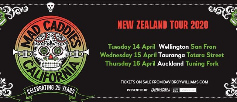 Mad Caddies' '25th Anniversary Tour' lands in New Zealand this April 2020