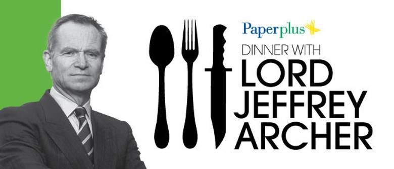 Join Lord Jeffrey Archer For Dinner