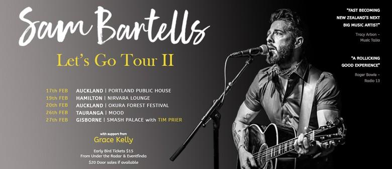 Sam Bartells reveals Let's Go II Tour in February