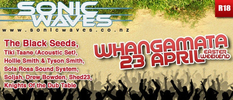 Win Tickets to Sonic Waves Festival in Whangamata