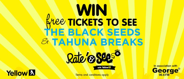 Win Tickets to The Black Seeds & Tahuna Breaks