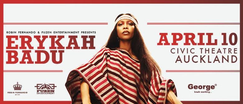 Erykah Badu Announces Auckland Concert