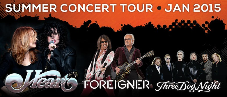 Heart, Foreigner and Three Dog Night New Zealand Tour