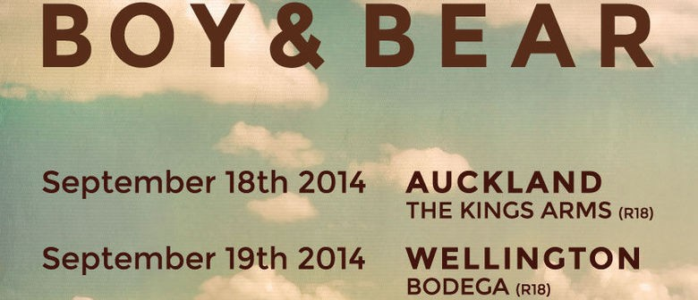 Boy & Bear Auckland Venue Change