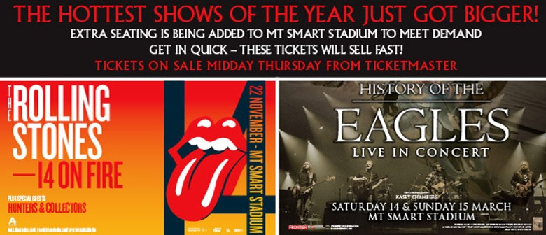 Extra Tickets Announced for Eagles and Rolling Stones