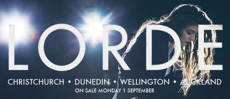 Lorde's Dunedin Concert Sold Out
