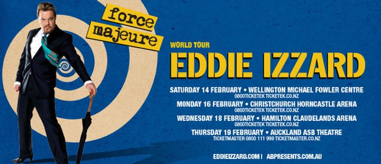 Eddie Izzard Announces New Zealand Tour