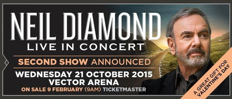 Neil Diamond Adds Second Auckland Concert