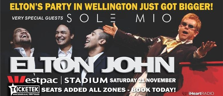 Sol3 Mio Announced as Support for Elton John's Wellington Concert