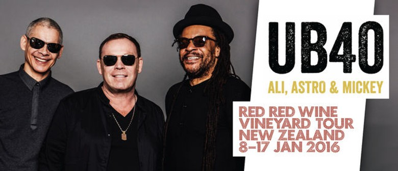UB40 Red Red Wine Vineyard Tour Hawke's Bay -- New Ticket Release
