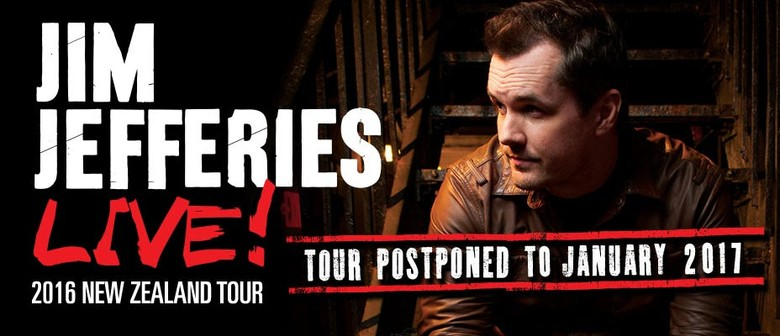 Jim Jefferies Rescheduled New Zealand Tour To January 2017
