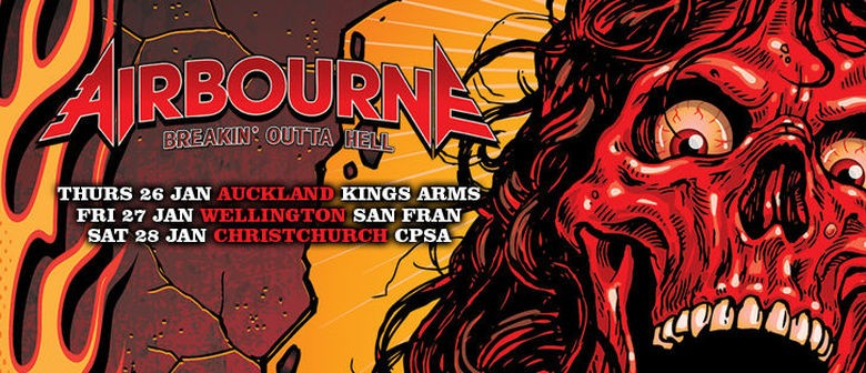 Aussie Rockers Airbourne Announce New Zealand Tour