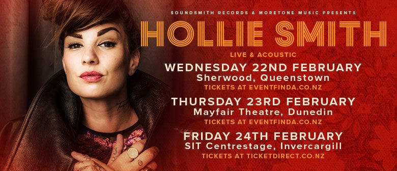 Hollie Smith Announces Three South Island Shows
