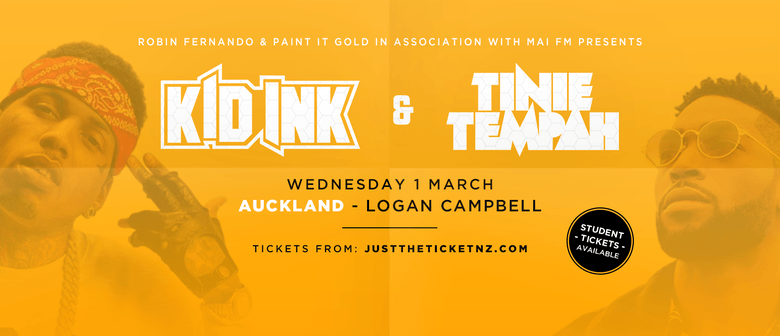 Auckland Show Announced For Kid Ink & Tinie Tempah