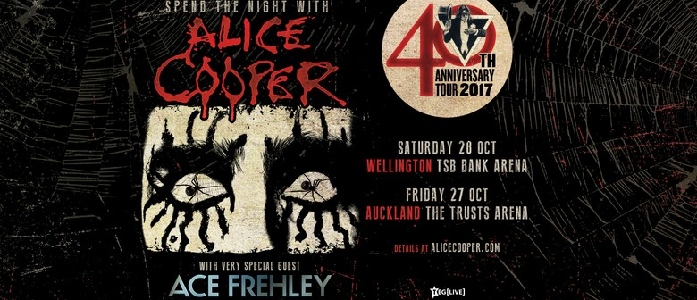 Alice Cooper Returns to New Zealand with Special Guest Ace Frehley