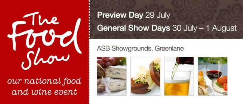 The Food Show Tickets Available Now