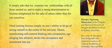 Seven Points of Mind Training by Khenpo Ngawang Dhamchoe