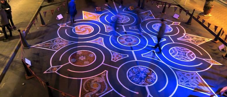 Tape Art Labyrinth