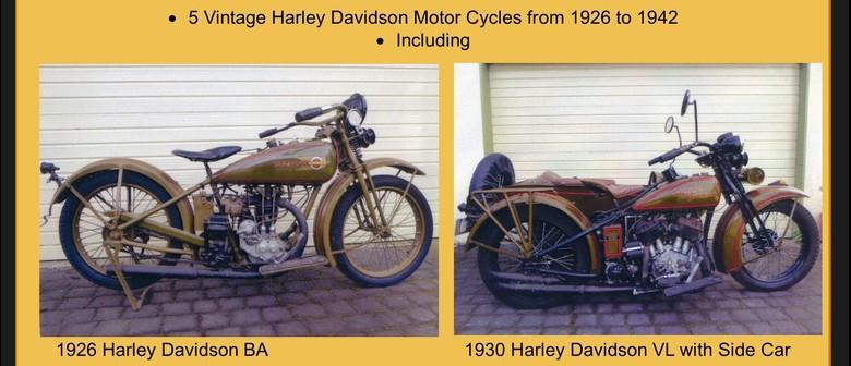 Vintage Harley Davidson Display