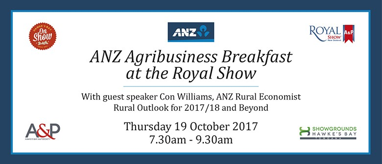 ANZ Agribusiness Breakfast at The Hawkes Bay Royal Show