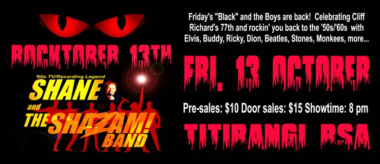Rocktober Friday13th With Shane & the Shazam Band