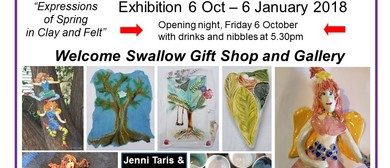 Expressions of Spring In Clay and Felt Exhibition