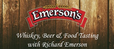 Whiskey, Beer & Food Tasting with Richard Emerson: SOLD OUT