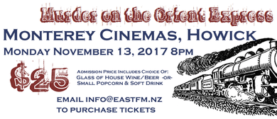 Murder On the Orient Express Fundraising Movie Night