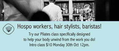 Pilates for Hospo Workers, Hairdressers, Baristas & More!