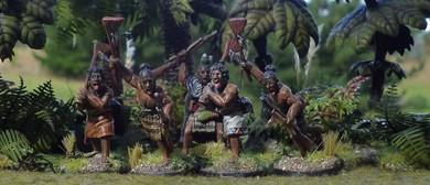 Miniature Tabletop Battle Commemorating the NZ Wars
