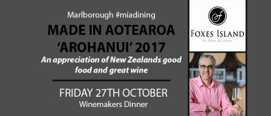 Made In Aotearoa Arohanui - John Belsham 'Foxes Island': CANCELLED