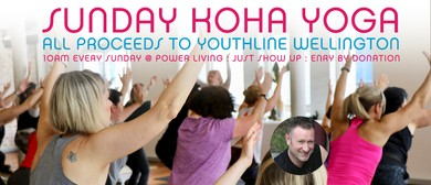 Sunday Koha Yoga for Youthline Wellington