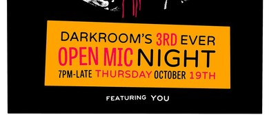 Darkroom's 3rd Ever Open Mic Night