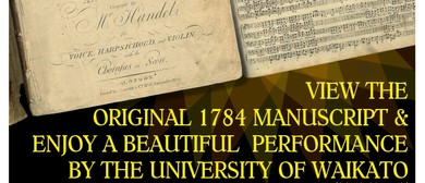 Handel's Messiah Concert With Original Manuscript Viewing