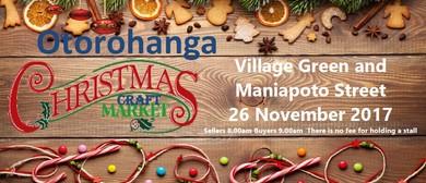 Otorohanga Christmas Craft Market