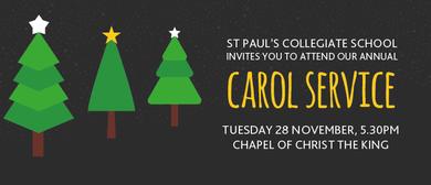 Christmas Carol Service - St Paul's Collegiate School