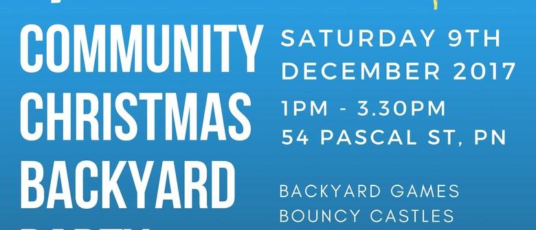 Community Christmas Backyard Party