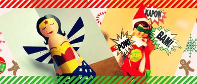 Kids Art Class: Christmas Tree Superheroes