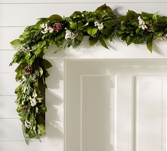 Christmas Garland Workshop For Fireplace Doorway Table