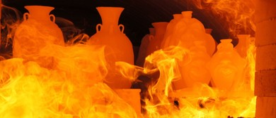 Wood Fired Kiln Community Firing